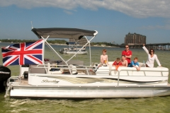 Rent a pontoon boat